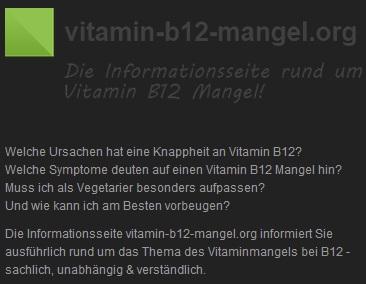 Vitamin B12 Mangel - die Informationsseite rund um Vitamin B12 Footer